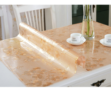 PVC waterproof table cloth soft glass plastic tablecloth table MATS from XiCha several pad frosted crystal plate(China)