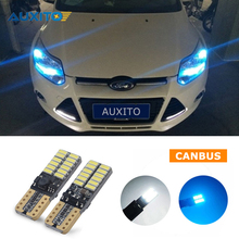 For Ford Focus 2 3 1 Fiesta Mondeo 4 3 Transit Fusion Kuga Ranger Mustang Ecosport KA T10 W5W LED Car Clearance Parking Light(China)