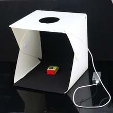 30 x 30 x 30cm Portable Mini Photo Studio Box plastic Photography Backdrop built-in Light Photo Box Photo Studio Accessories