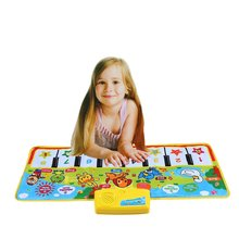 Colorful Musical Learning Mat Flash Piano Music Carpet Blanket Touch Toy for Baby Kids(China)