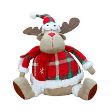 2017 Merry Christmas Xmas Decoration Moose Doll Reindeer Figurines Children Gifts Toys Fabrics Craft for Home Decor SD166