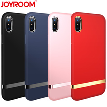 JOYROOM High-end Luxury Amazing Touch Feeling Soft Case Cover for iphone X Full Coverage Protective Back Cover(China)