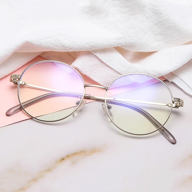 Anti-Blu-Ray Glasses Art Retro Personality Unisex Metal Trend