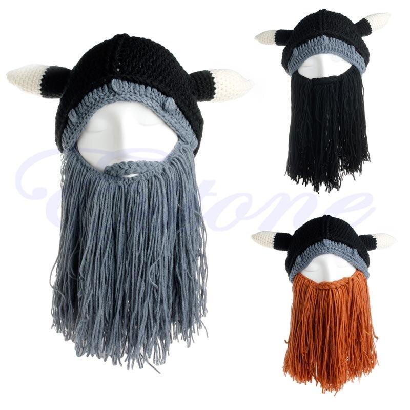 New Winter Knit Cotton Crochet Beard Cap Looter Beanie Vagabond Mustache HatÎäåæäà è àêñåññóàðû<br><br><br>Aliexpress