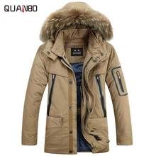 Winter Jacket Men 2016 New Brand Clothing Liner Detachable Down Thick Warm Coat Men's Casual Fur Collar Parkas Hooded Khaki