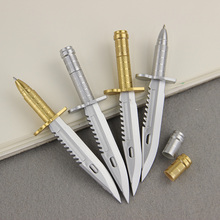 3PCS School Office Ball Pens Unique Knife style Ballpoint Pen Creative Gift Learning Stationery(China)