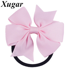 6 Pcs Lovely Pinwheel Hairbows For Girls Kids Small Hair Bow with Elastic Band Cute Scrunchy Hairbow Hair Accessories(China)