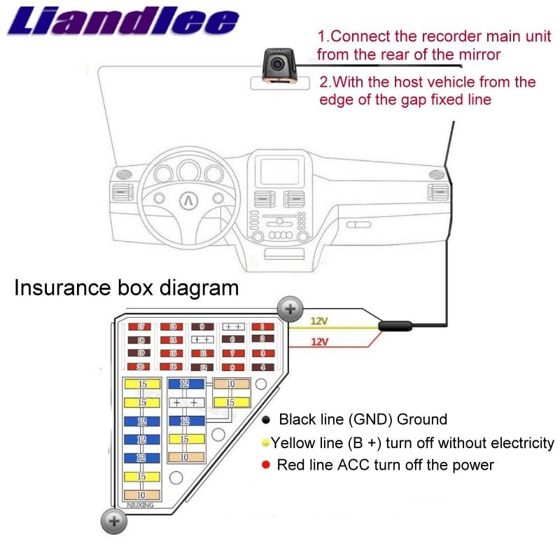 Liandlee For Mercedes Benz C MB W204 2007~2014 Car Black Box WiFi DVR Dash Camera Driving Video Recorder 22
