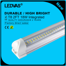 LEDVAS Super Bright 18W T8 LED Tubes 2Ft LED Integrated Tube Lights Double Strips 600mm 144led Light Lamp Bulb 2feet 60cm