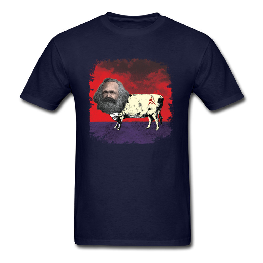 COW MARX - FATHER OF COWMUNISM_navy