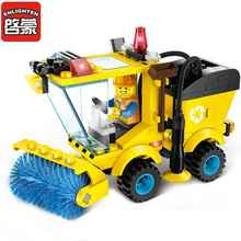 City Road Sweeper Blocks Toys for Children Kids Assembled Model Building Kits Blocks Toys Educational Christmas Gift Toys 1101