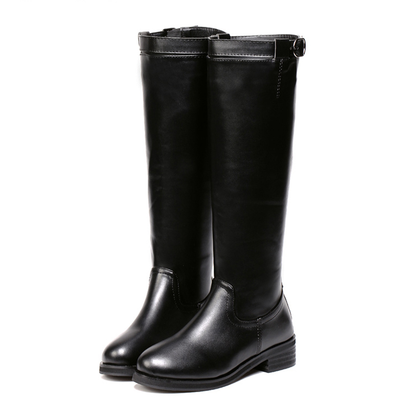 Fashion Women Knee Shoes Low Square Heels PU Leather Thigh High Boots Wild Waterproof Zip Women Winter Motorcyle Boots BT28<br><br>Aliexpress