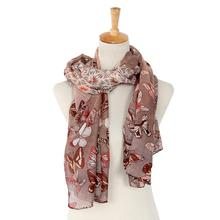 FEITONG High Quality Cheap Butterfly Printing Voile Scarf  Ladies ethnic style scarves chiffon scarf Femme