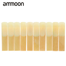 ammoon 10-pack Pieces Strength 3.0 Bamboo Reeds for Eb Alto Saxophone Sax Woodwind Instruments Parts & Accessories