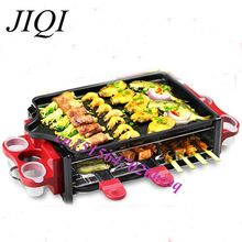 Electric Grill/Griddle Barbecue Roasting Maker Korean Takoyaki BBQ Oven with Pancake, Pan, Demountable Oil Collector