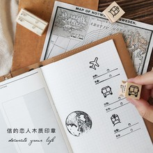 JWHCJ creative Travel series wooden stamp diy Handmadedecal stamps for scrapbooking diy stamps Photo Album Craft gifts