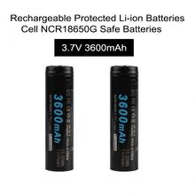 2pcs/set Soshine 18650 3.7v 3600mAh Li-ion Rechargeable Battery with Protected PCB for LED Flashlights Headlamps
