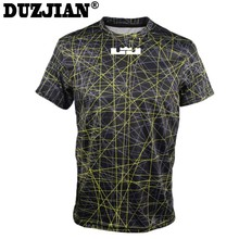 DUZJIAN summer Cavalier LeBron James Men's cotton T-shirt bodybuilding maillot de basket cheap jerseys camisa masculina