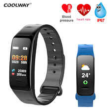 Buy C1S Smart Bracelet Color Screen Wristband Blood Pressure Smart Bracelet Fitness Tracker Heart Rate C1S Wristband PK mi band 2 3 for $20.77 in AliExpress store