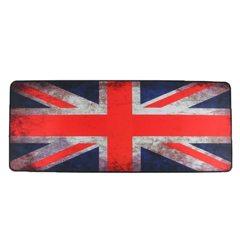 UK Flag Rubber Gaming Mouse Pad XL 900 x 400 mm Locking Edge Keyboard Pads For csgo LOL Dota Overwatch OW Player Big Mousepad