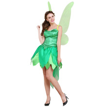 Princess Tinkerbell Dress Costume Include Wing Adult Women Birthday Halloween Carnival Party Cosplay Dress Clothing Custom Made