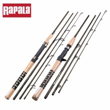 Rapala Magnum Fishing Rod 2.1m 4 Sections M Power Carbon Fiber Spinning Casting Fishing Rod with Fishing Rod Bag