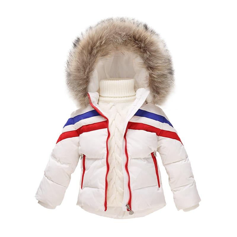 Kids White Duck down Jackets for Boy / Girl Cheap Price Winter Goose Down Coat Childrens Parka meisjes winterjas Big Fur HoodОдежда и ак�е��уары<br><br><br>Aliexpress