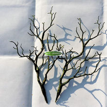 3pcs 36cm Manzanita Decorative Dry Artificial Fake Foliage Plant Tree Branch Wedding Home Church Office Furniture Green White F4