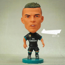 "Soccer Player Star 7# C.RONALDO (RM-BLACK-2018) 2.5"" Action Dolls Figurine(China)"