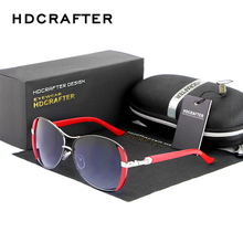 HDCRAFTER Hot Selling Women Sunglasses Fashion Cat Eye Glasses Women Brand Designer Sunglasses Elegant Driving Googles(China)