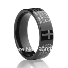 Free Shipping and Free Engraving Tungsten ring  male Korean version of the original designers of the Bible ring