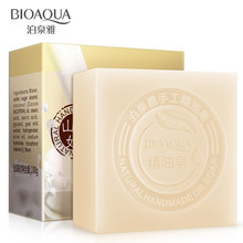 2Pcs/Lot BIOAQUA Goat Milk Handmade Soap Skin Whitening Soap Blackhead Remover Acne Treatment Face Wash Hair Care Bath Skin Care(China)