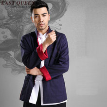 Good taste Chinese traditional clothing for men long sleeves bruce lee clothes oriental mens clothing male linen shirt KK010 Q(China)