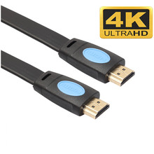 1/1.8m New Male to Male Hdmi Cable 2.0 Version High Speed HDMI HDTV LED LCD PS4 2160P 4K Flat Bluray 18Gbps Cable Mayitr(Hong Kong)
