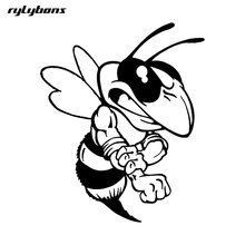 rylybons body car sticker funny animal Attacking Bee 12.3*15CM The 2nd Half Price Car Stickers And Decals car styling(China)