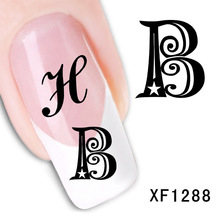 2017 Limited New Arrival Xf Manicure Sticker Nail Paibi Flower Art Word Watermark Stickers Manufacturers Xf1288
