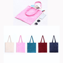 YILE 1pc Zip Corduroy Shoulder Bag Shopping Tote Eco Reusable 5 Color GK1202(China)