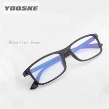 YOOSKE Anti-Blu-ray Reading Glasses TR90 Ultralight Computer TV Anti Radiation Presbyopia Prescription Lens 1.5 2.0 2.5 3.0 3.5