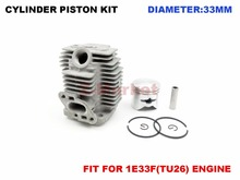 Cylinder Piston Kit Fit For Mitsubishi TU26 Engine NAKASHI L26M Brush Cutter 2 Stroke Engine Garden Tools Spare Parts