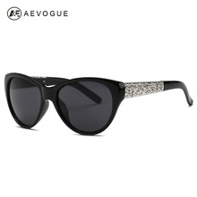 AEVOGUE Sunglasses Women Cat Eye Acetate Frame Oval Lens Shades Classic Sun Glasses Original Brand Designer UV400 AE0353(China)