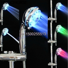 Shower Head Sprinkler Adjustable 3 Mode LED Light Shower Head Sprinkler Temperature Sensor Bathroom