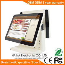 Haina Touch 15 inch Retail Touch Screen POS System All in one Dual Screen POS Terminal(China)