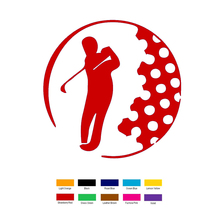 15cm x 15cm Golfer Inside Golf Ball Car Sticker For Truck Window Bumper Auto SUV Door Laptop Kayak Vinyl xin-204