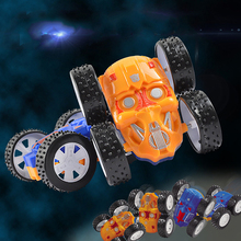New 1pcs Spiderman Minions Car Four-drive Inertia Double-sided Dump Truck Shatter Resistant 360 Degree Stunt Kids Toy