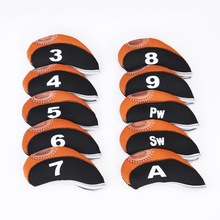 Golf Clubs Iron Head Cover Set 10pcs Neoprene Headcovers One size Fit All Irons Outdoor Golf Accessories golf Fans supplies