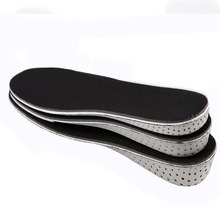 Man women Memory Foam Height Increase Insole Heel Lift Insert Taller Insole Shoe Pad Soles Shoe Cushion Elevator for foot care(China)