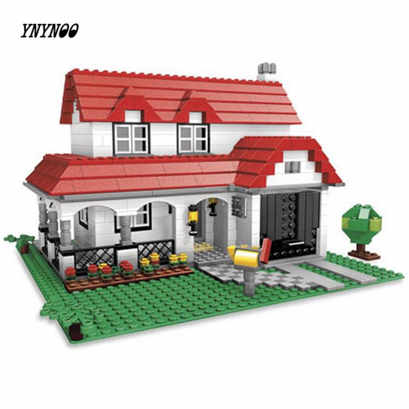 YNYNOO Lepin 24027 City series 3-in-1 Building Series American Style House Villa Building Blocks 4956 Brick toys for children<br>