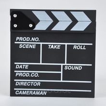 2016 New hot Arrivel Cute Classical Director Video Clapper Board Scene Clapperboard TV Movie Film Cut Prop