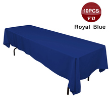 Big Discount Table Cloth for Sale 10PC Polyester Seamless Machine Washable Rectangular Tablecloth for Wedding Party Hotel Linens(China)