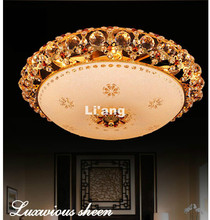 New Traditional Modern Gold LED K9 Crystal Lighting Ceiling Lamp D40cm Modern Light Bedroom Lamp Ceiling Light 100% Guaranteed